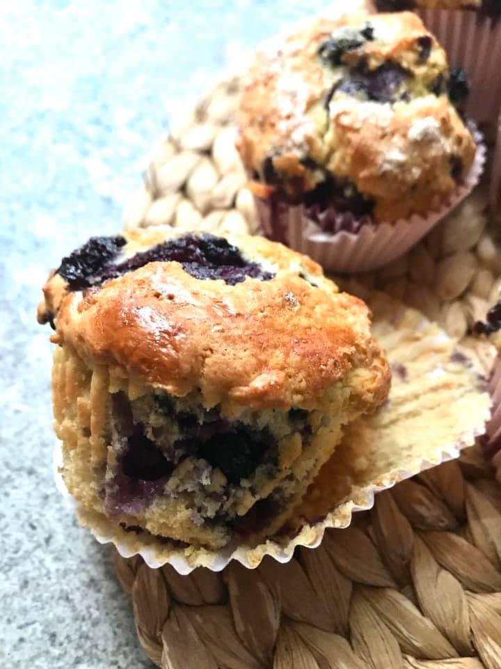 Lemon and Blueberry Muffins (shmaltz muffins)