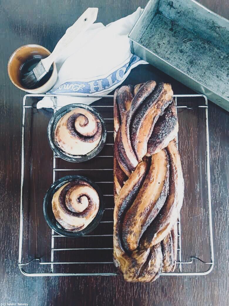 Cinnamon and Cardamom Babka with Brown Sugar Glaze