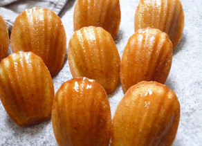 Vanilla Brown Butter Madeleines with Vanilla Brown Sugar Glaze