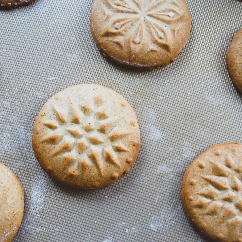 Spiced Honey Cookies baked