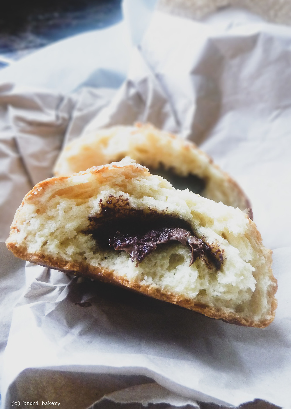 Quick Crinkle Rolls with Chocolate