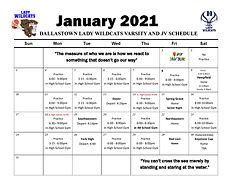 20-21 Girls Varsity and JV Practice Sche
