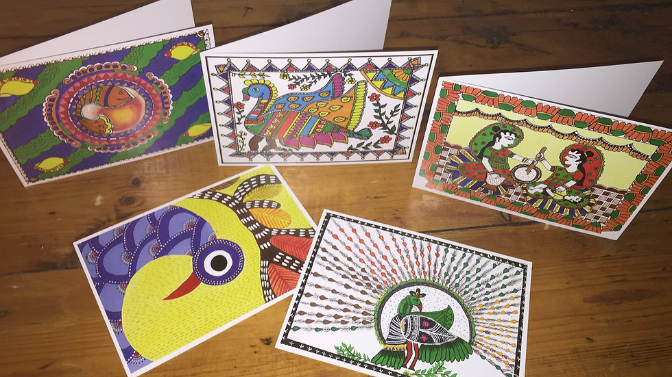 Indian cards (blank inside, pack of 10)
