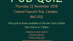 Join Us At Our Second Annual Pub Quiz!
