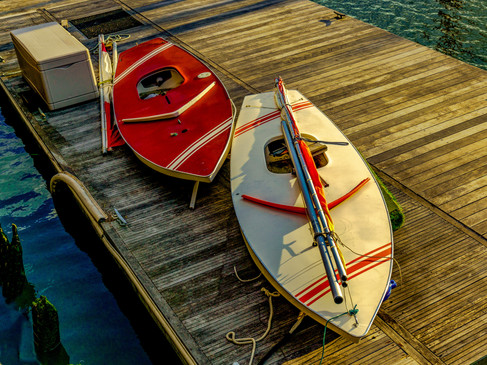 Sailboats on dock