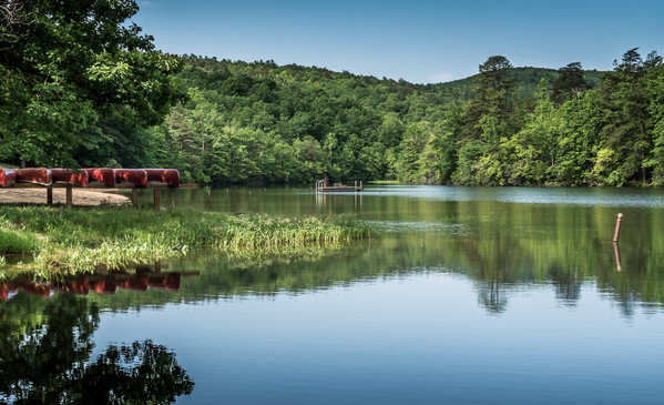 Quiet Lake at Hanging Rock State Park