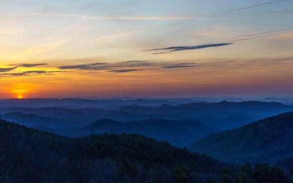 Blueridge Mountains at Sunrise