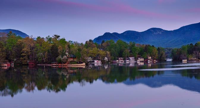 Purple Sunrise on Loon Lake