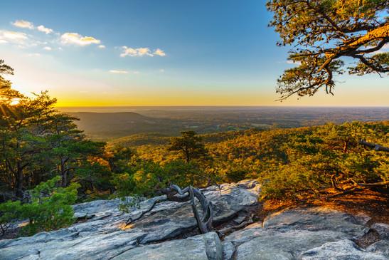 Fall Sunrise on Hanging Rock