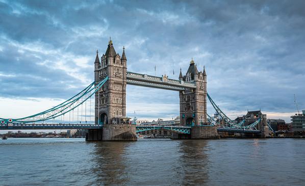 Tower Bridge Against Cloudy Sky