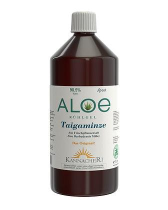 Aloe Kühlgel Taigaminze 98,5% 1 Ltr