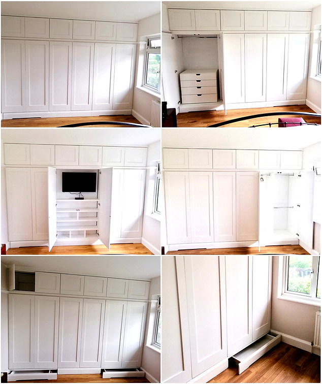Bespoke Fitted Wardrobes with Hidden Skirting Draws