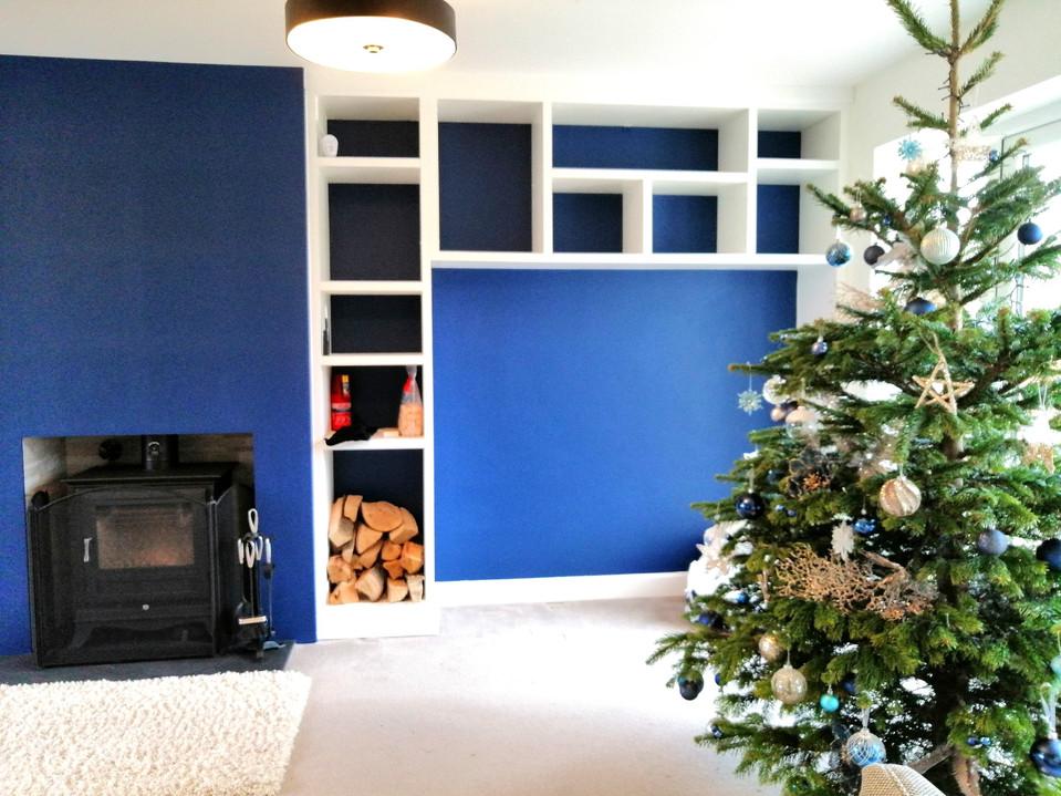 Bespoke Media Unit & Alcove Storage-Galleywood Dec 2018