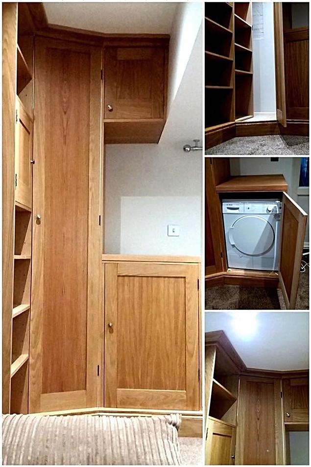 Oak Utility Storage and Book Shelves-Rochford