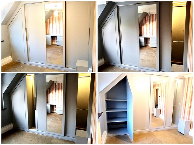Bespoke Fitted Wardrobes in Loft Conversion