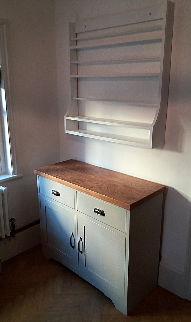 Freestanding Kitchen Unit and Plate Rack-Brentwood