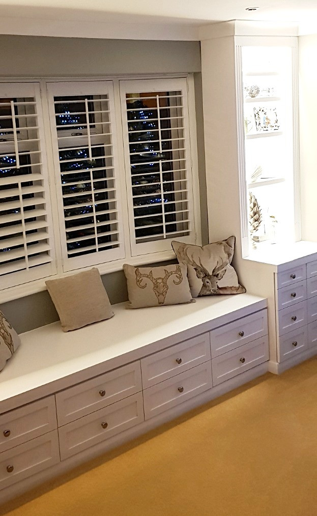Fitted Window Seat with Storage-Rochford