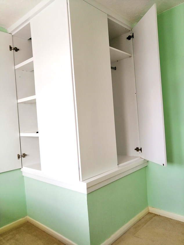 Bespoke Wardrobe over Stairwell in Bedroom