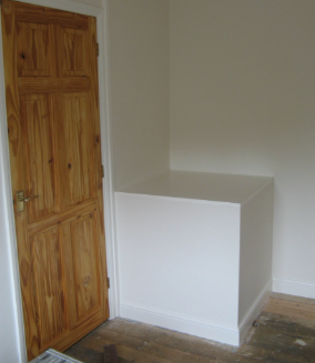 Bespoke Furniture Built Over A Stair Bulkhead