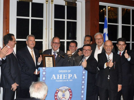 THE MANHATTAN CHAPTER OF THE ORDER OF AHEPA, DELPHI # 25 HONORS DR. MARINOS PETRATOS
