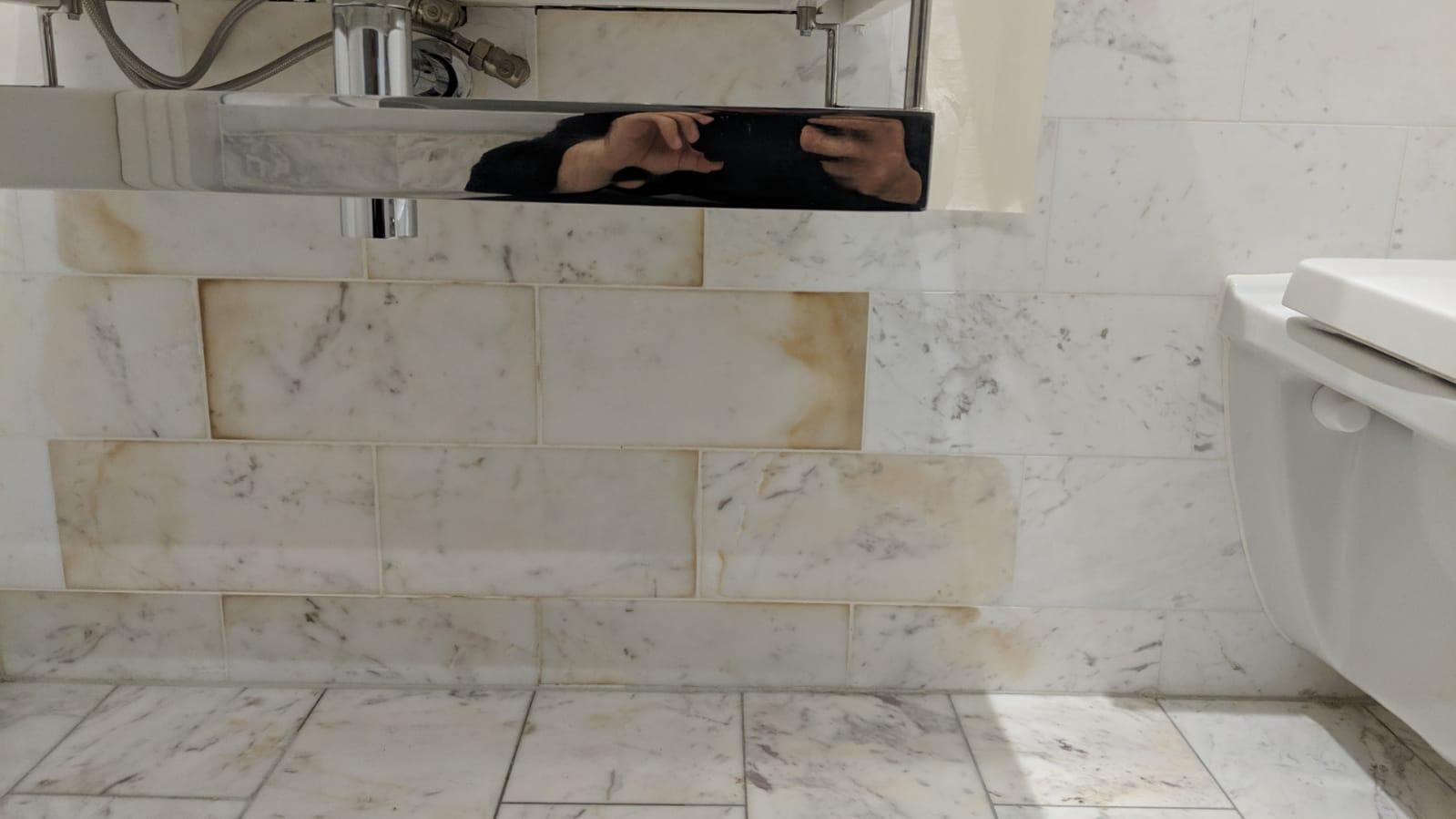 Damaged marble
