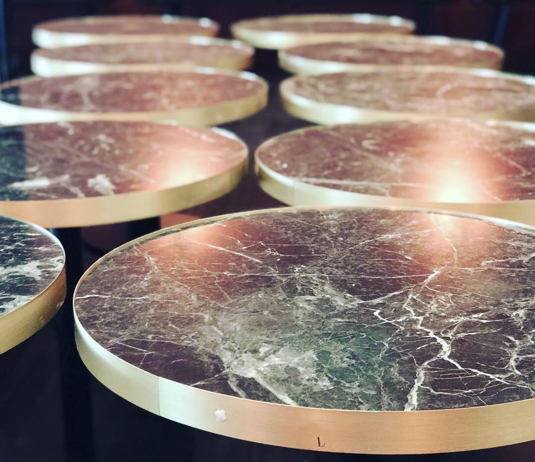 Restaurnat Verde Tinos Marble Table