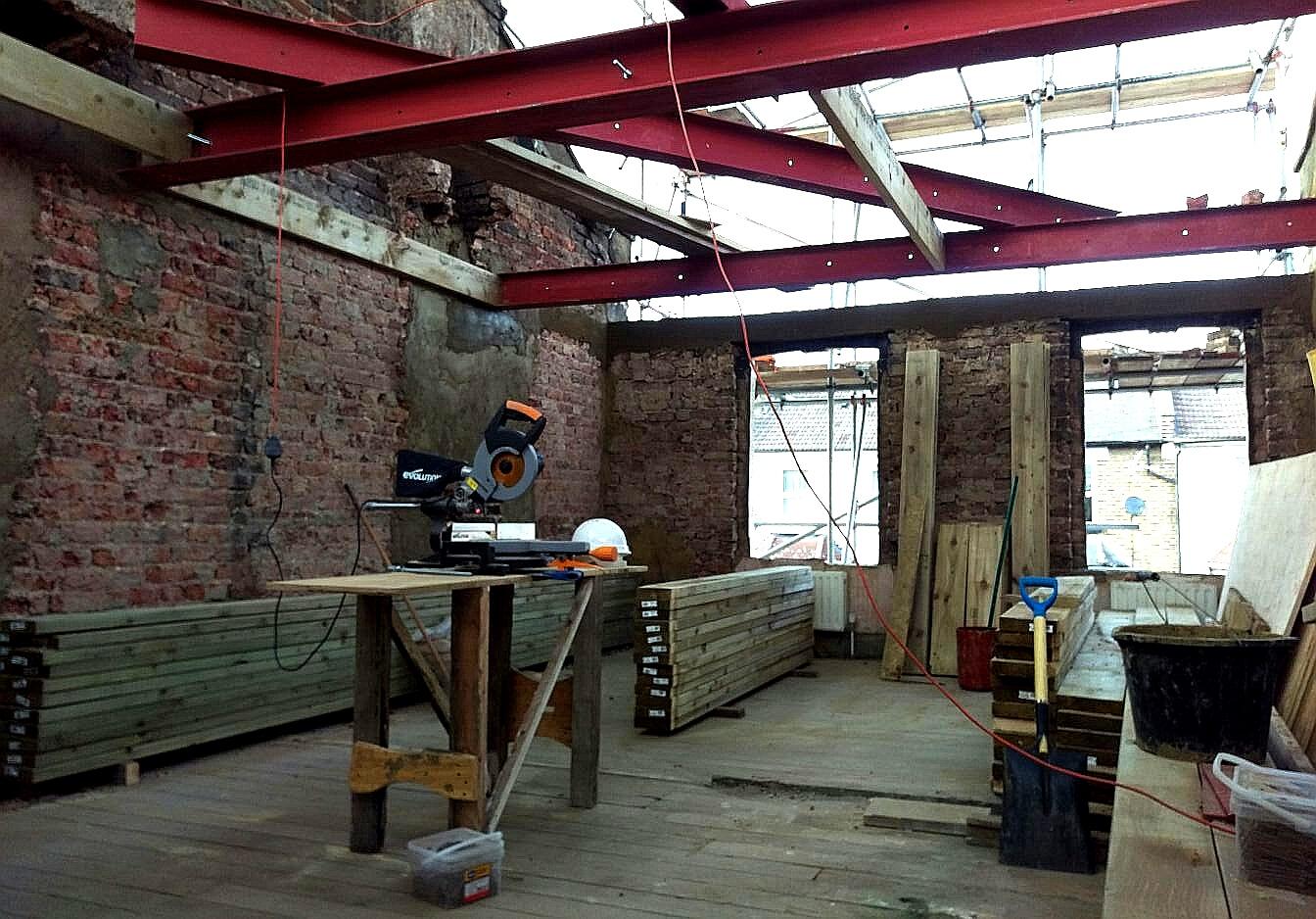 Loft Steel Beams