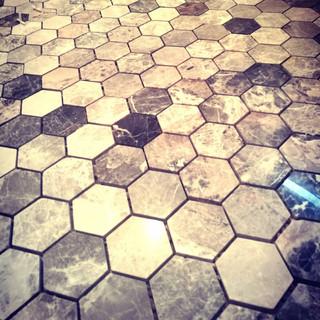 Marble mosaic floor in Clapham