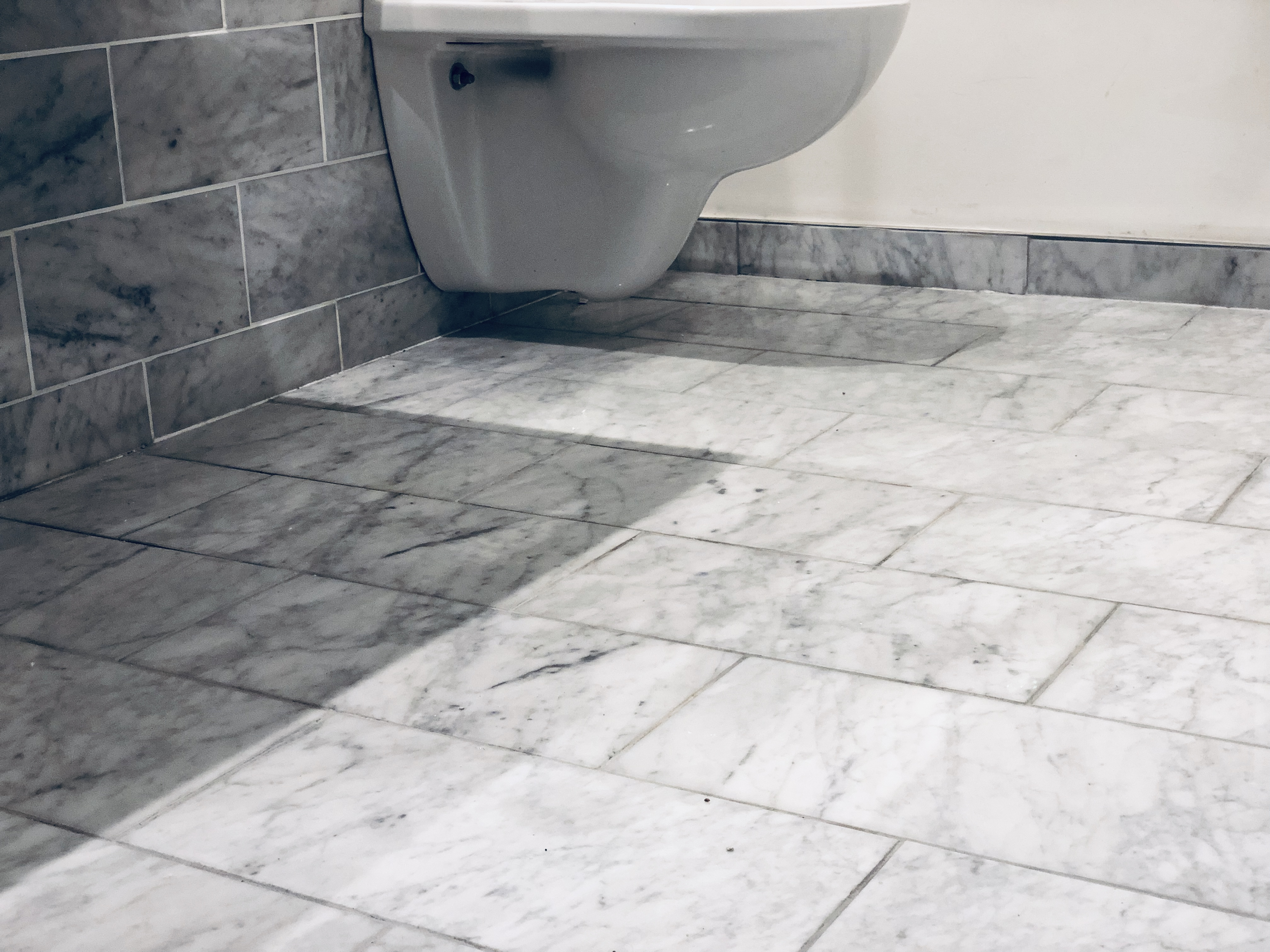 Carrara marble floor