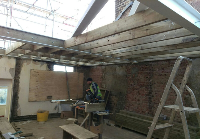 Steel beams Installation