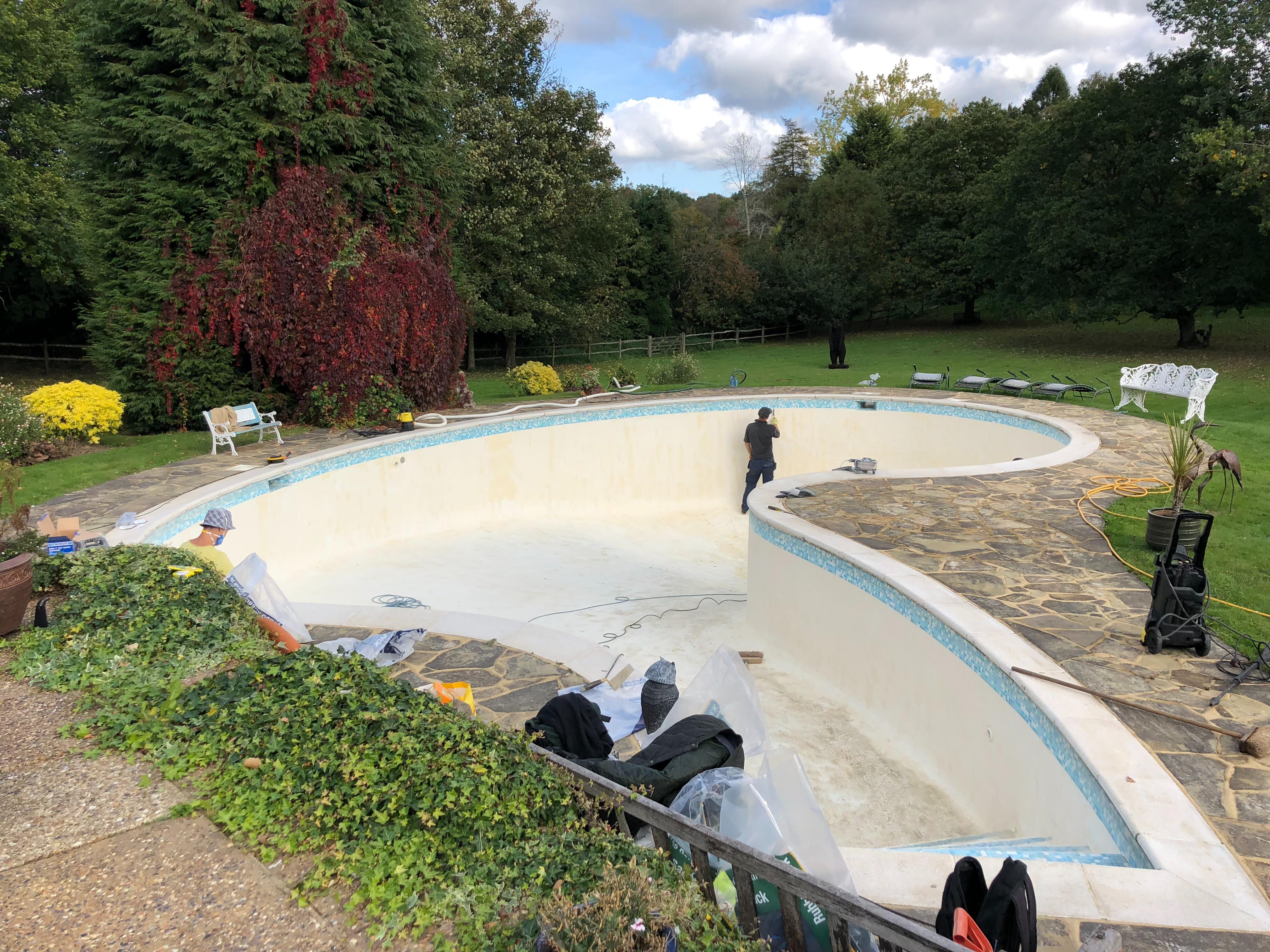 Swimming Pool Sanding