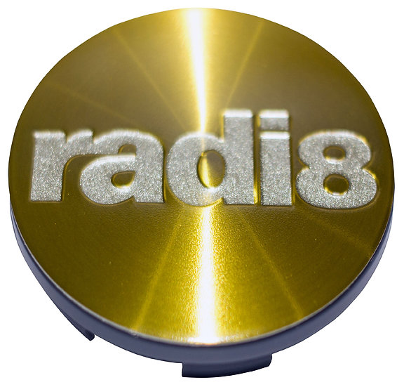 Radi8 Wheel Brushed Gold Center Cap.