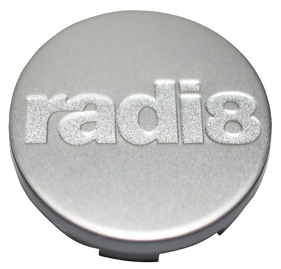Radi8 Wheel Matte Silver Center Cap.