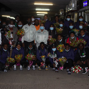 Olympic athletes receive warm welcome