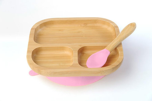 Bamboo Plate & Spoon Set