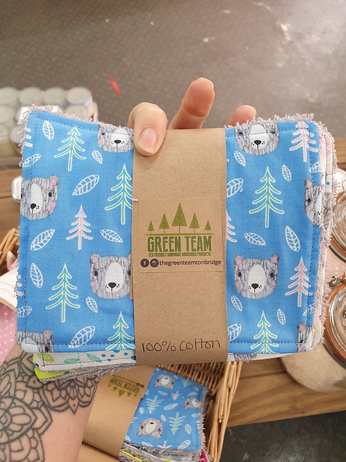 Reusable baby wipes x 5