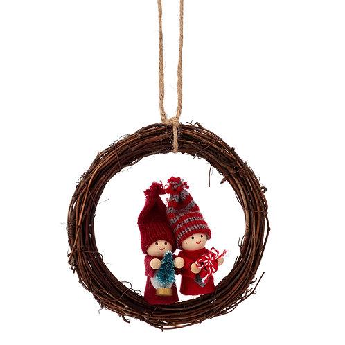 Felt Doll Christmas Wreath