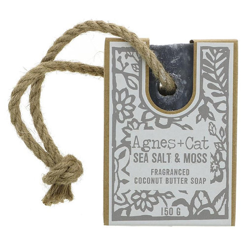 Sea Salt & Moss coconut butter Soap on a Rope