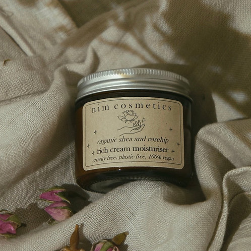 Organic Shea and Rosehip Rich Cream Moisturiser