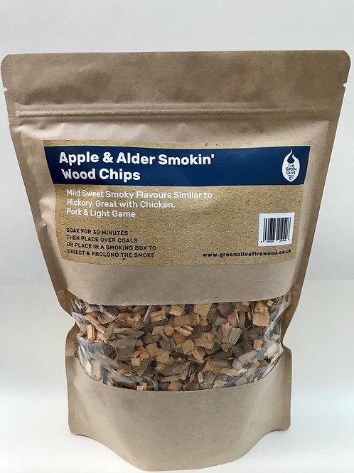 Apple & Alder Natural Wood Smoking Chips