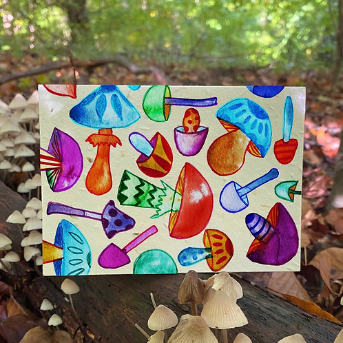 Much room for Mushroom plantable card