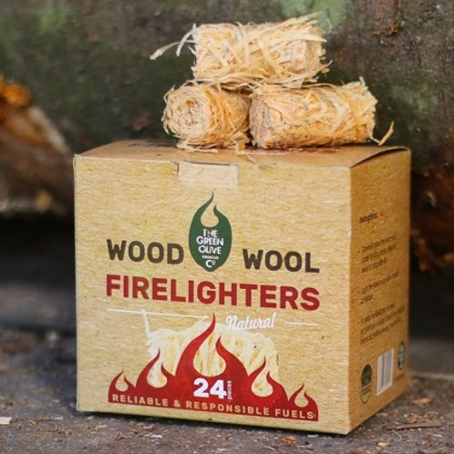 Wood Wool Natural Firelighters