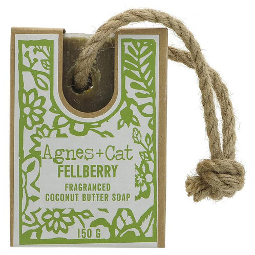 Fellberry Coconut Butter Soap on a Rope