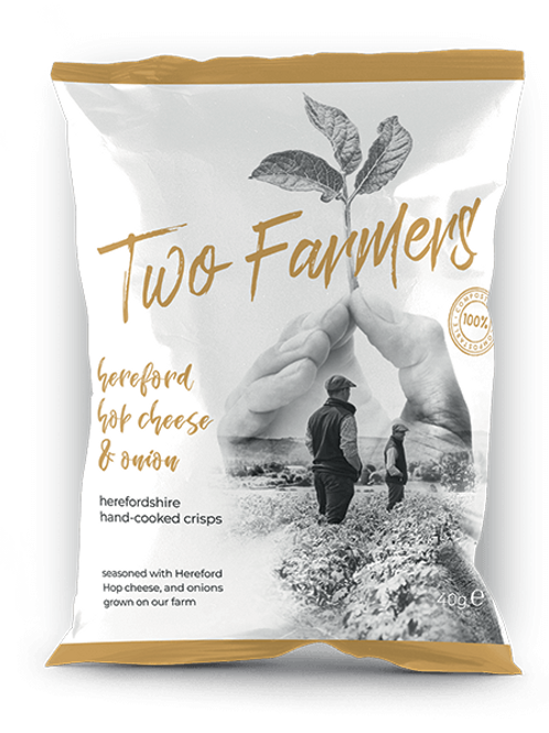 Two Farmers Crisps, Hereford Hop Cheese and Onion, 40g