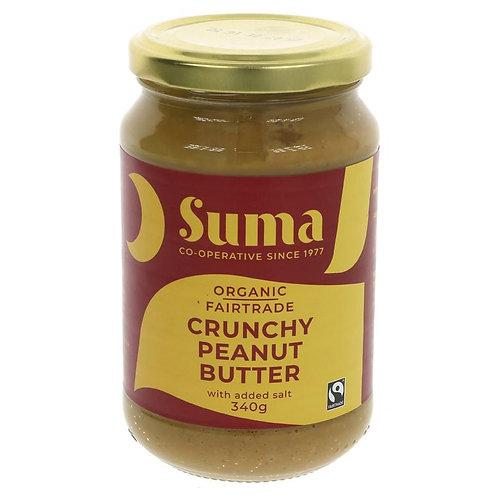 Organic Crunchy Peanut Butter 340g