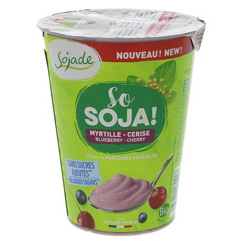 Organic Soya Yoghurt - Blueberry and Cherry