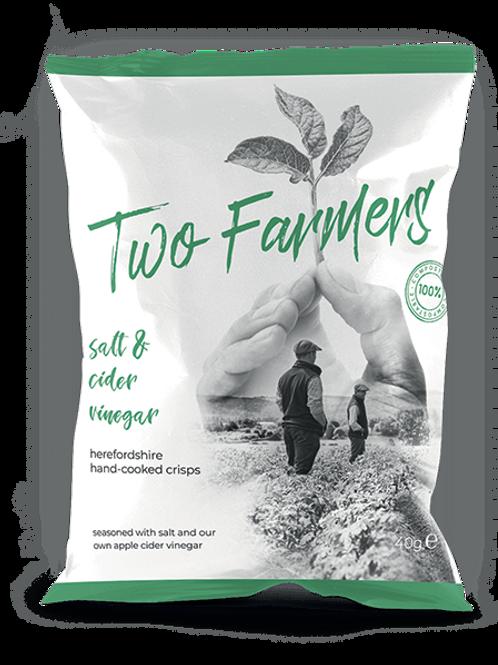 Two Farmers Crisps, Salt and Cider vinegar, 40g