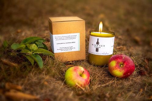 Half Cut Candle Cinnamon & Stewed Apple