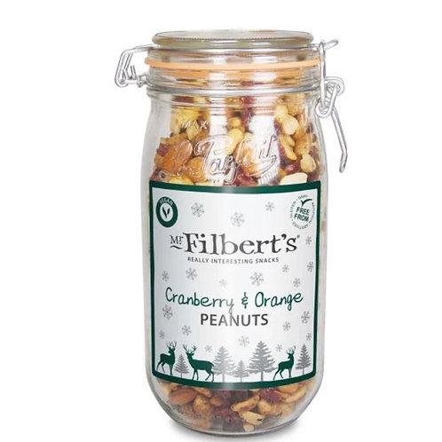 Christmas Kilner Jar - Cranberry & Orange Peanuts