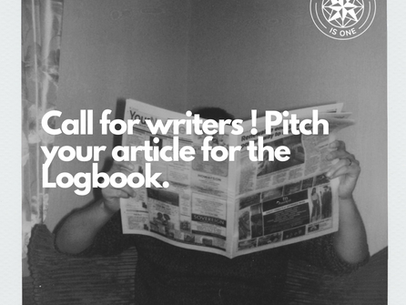 Call for writers ! Pitch your article for the Logbook.